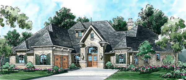 european house plan with 3 bedrooms and 35 baths plan 4500