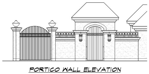 Portico Elevation by DFD House Plans