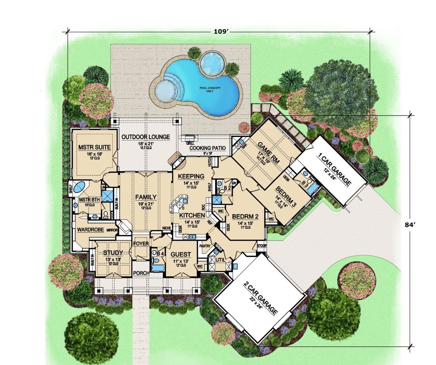 Craftsman house plan with 4 bedrooms and 4 5 baths plan 4846 for Aspen home design