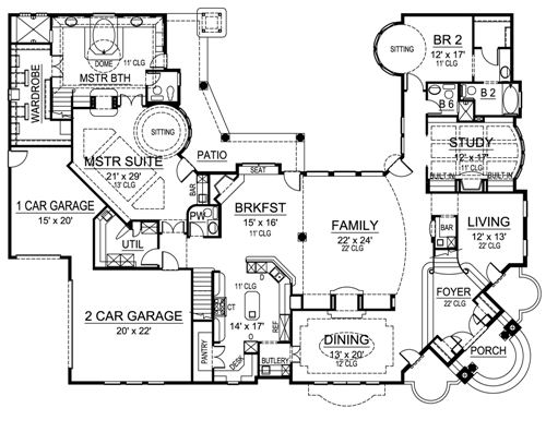 Mediterranean House Plan With 5 Bedrooms And 6 5 Baths