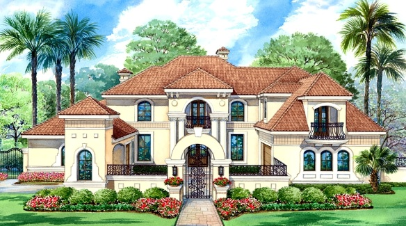 Mediterranean House Plan With 4 Bedrooms And 4.5 Baths - Plan 4693
