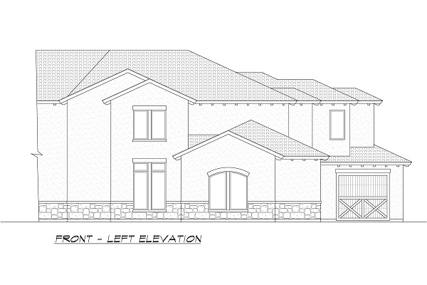 Front-Left Elevation by DFD House Plans