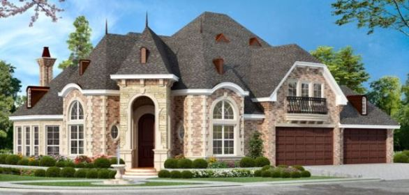 Charmant European House Plan With 3 Bedrooms And 5 Baths 4690. Corner Lot Home  Designs.