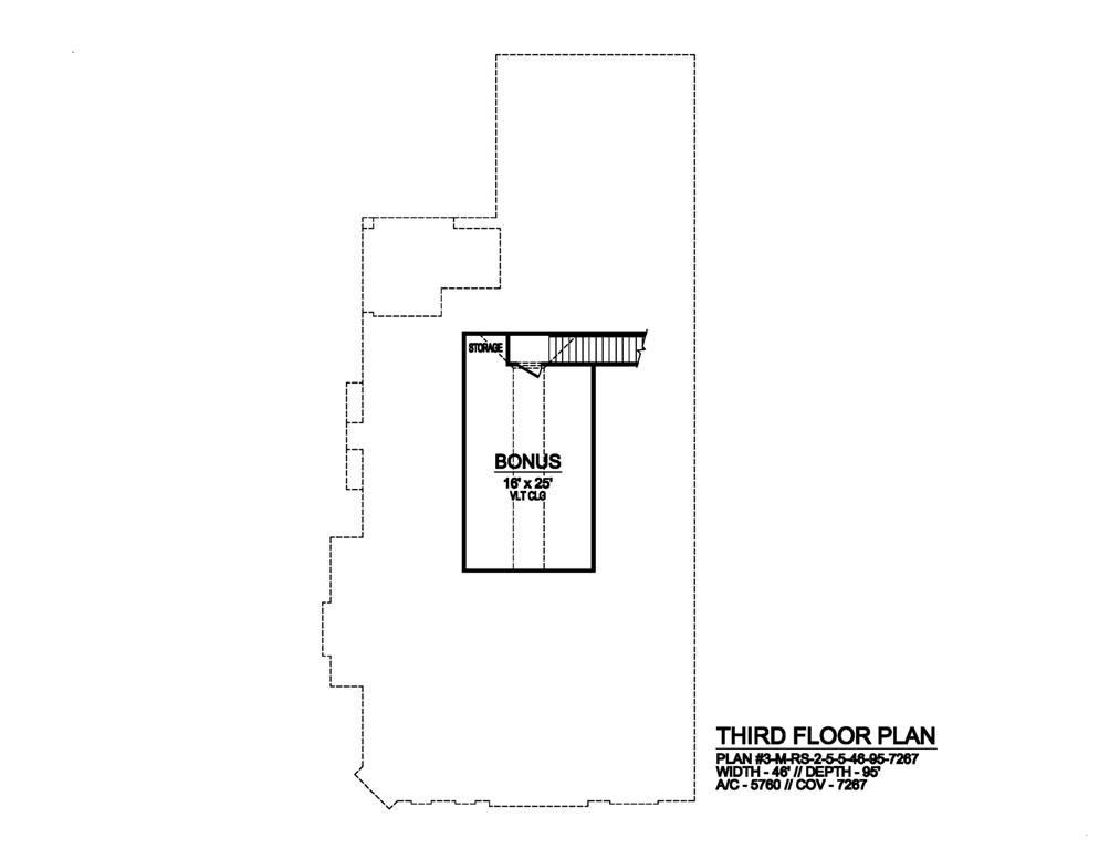 Third Floor by DFD House Plans