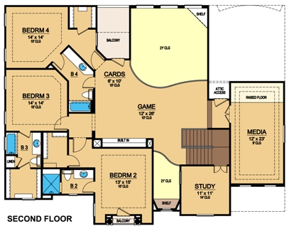 Second Floor 2 by DFD House Plans