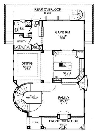 Second Floor by DFD House Plans
