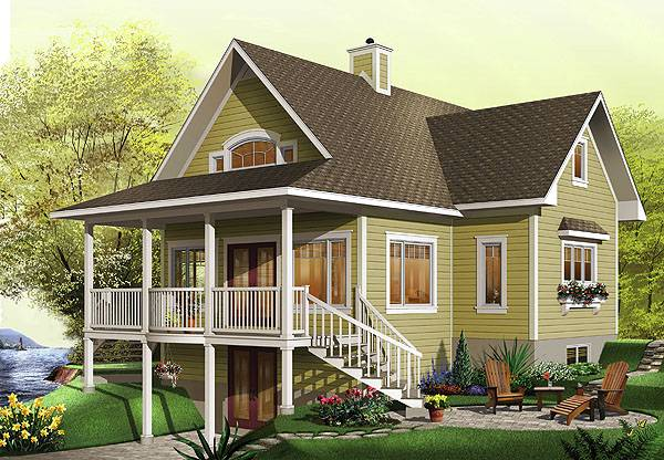 Front by DFD House Plans