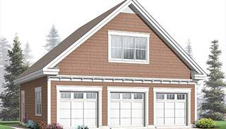 Three-car Garage Plans by DFD House Plans