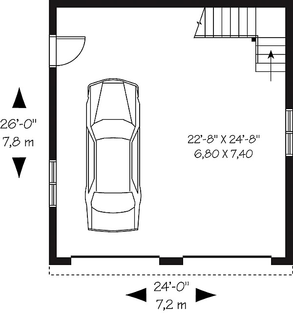 First level. Garage   Plan 1222