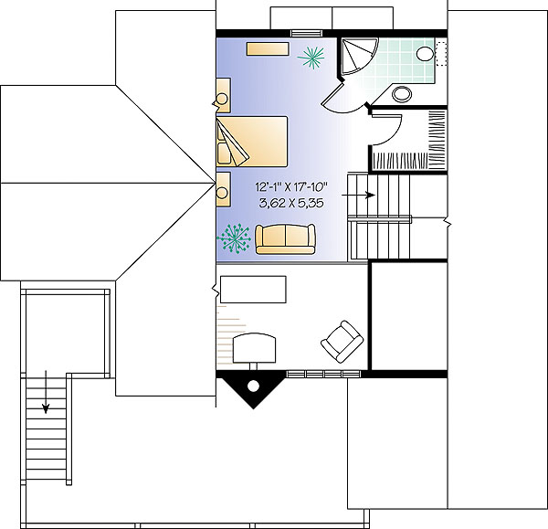 Third level by DFD House Plans