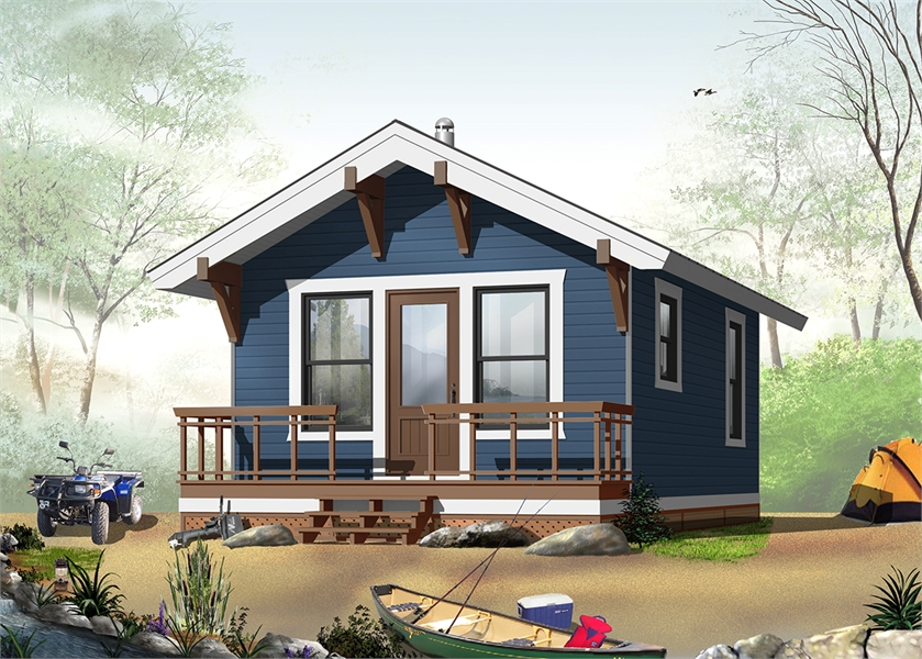 House Plan 1490: Tiny House Plan with Screw Pile Foundation