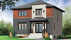 Two-story modern house plan by DFD House Plans