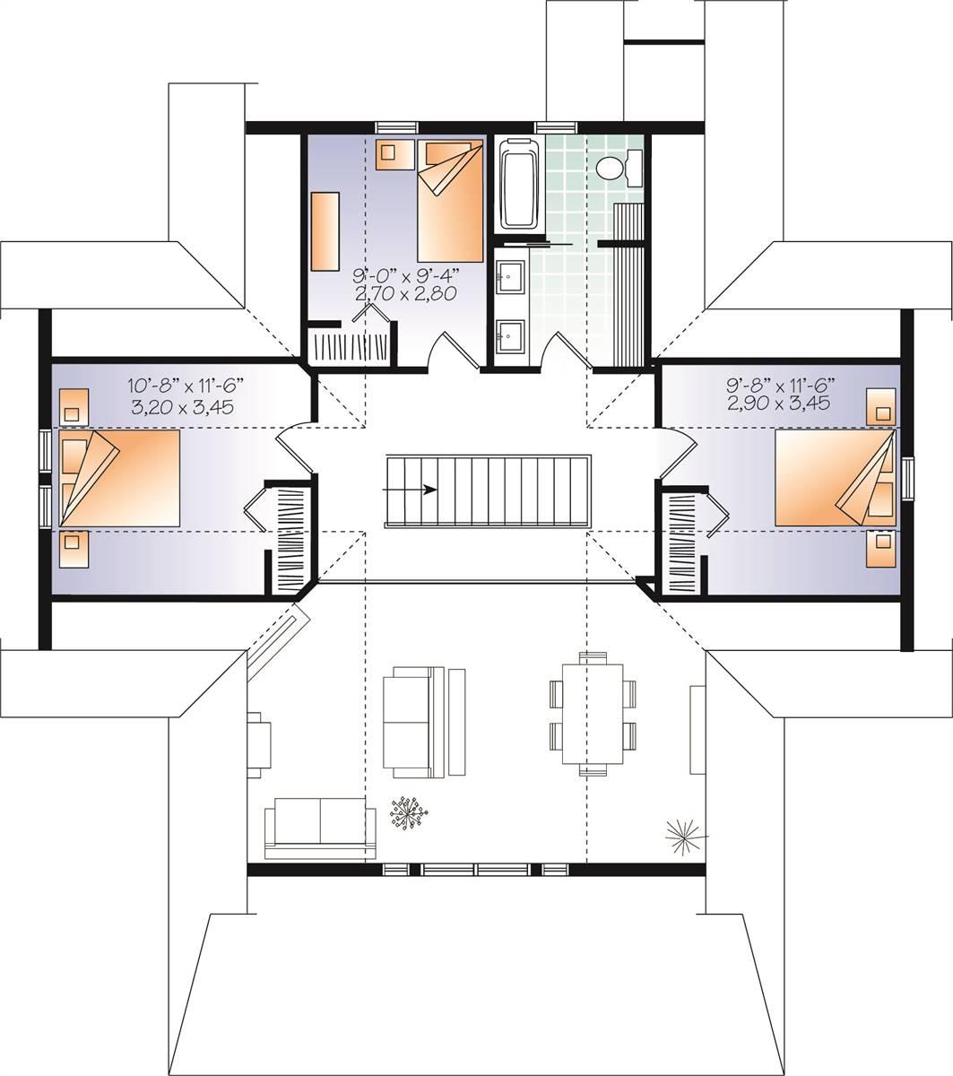 2nd Floor image of Beautiful Vistas House Plan