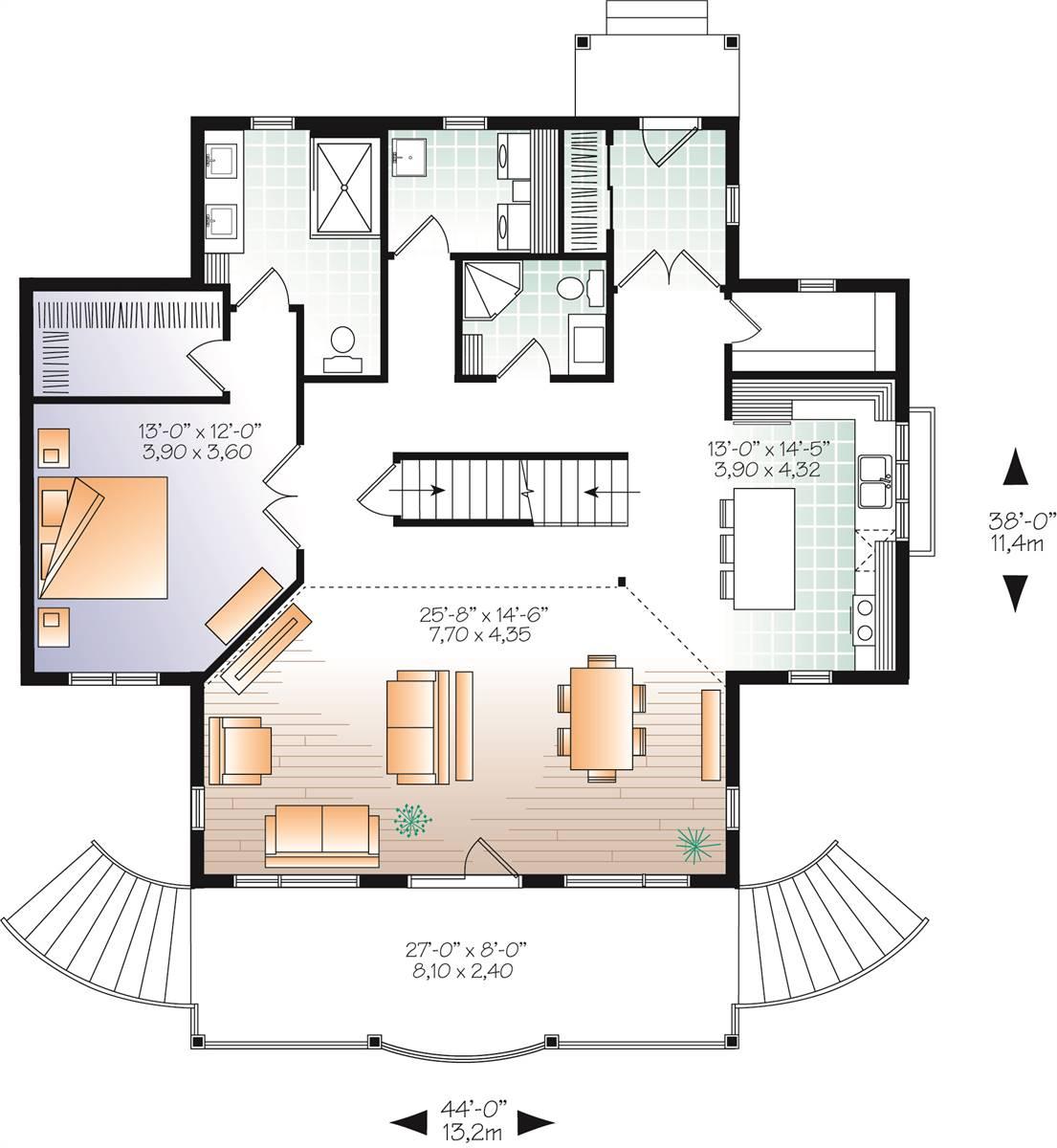 1st Floor image of Beautiful Vistas House Plan