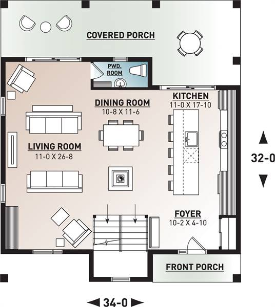 1st Floor Plan image of Scandi House Plan