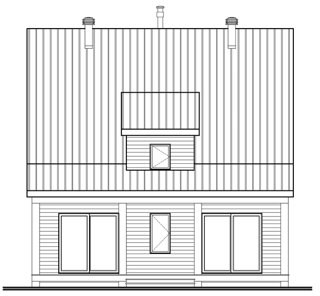 Rear Elevation image of Scandi House Plan
