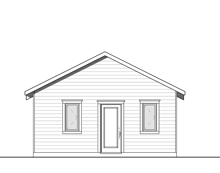 Front image of Cabana House Plan