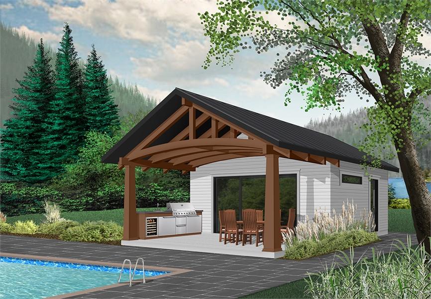 Rear image of Cabana House Plan