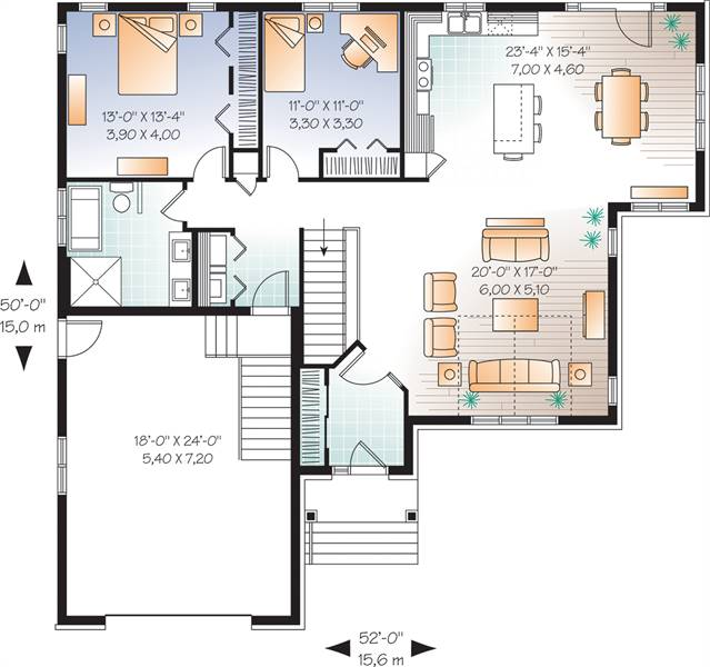 1st Floor Plan image of Kipling 2 House Plan
