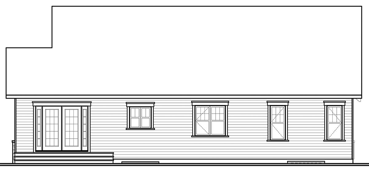 Rear image of Kipling 2 House Plan