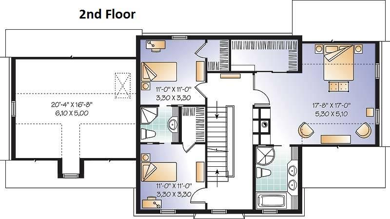 2nd Floor Plan image of Chisholm House Plan