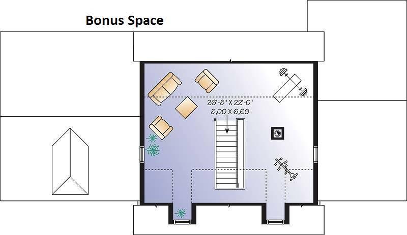 Bonus living space image of Chisholm House Plan