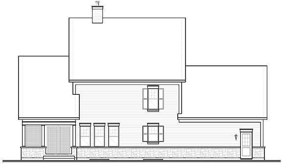 Rear image of Chisholm House Plan