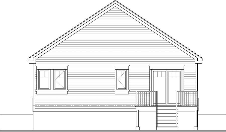 Rear Elevation image of Oakland House Plan