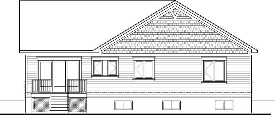 Rear image of Woodside House Plan
