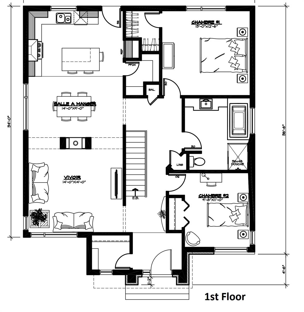 1st Floor Plan by DFD House Plans