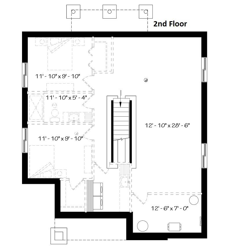 Basement image of Camille House Plan