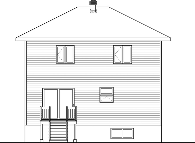 Rear Photo image of Bellechasse House Plan
