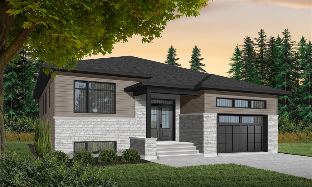 Contemporary House Plan with 3 Bedrooms and 2.5 Baths ...