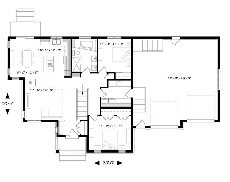 1st Floor Plan image of Ashbury 3 House Plan