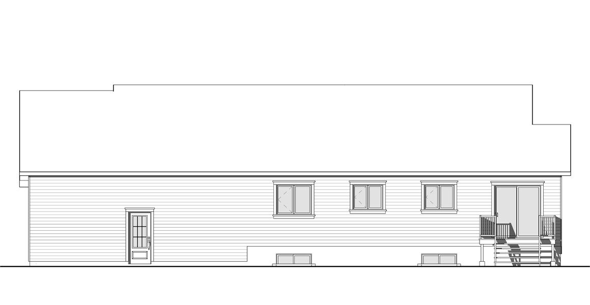 Rear Photo image of Ashbury 3 House Plan