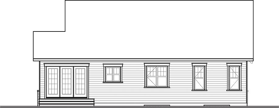 Rear view by DFD House Plans