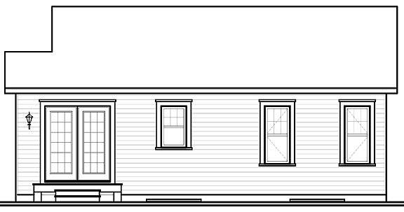 Rear Elevation image of Emmit House Plan