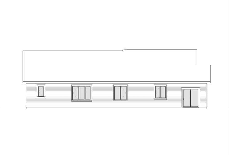 Rear Elevation image of Providence 3 House Plan