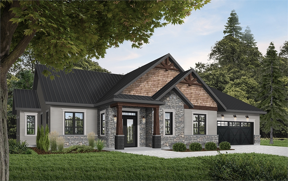 Front image of Providence 3 House Plan