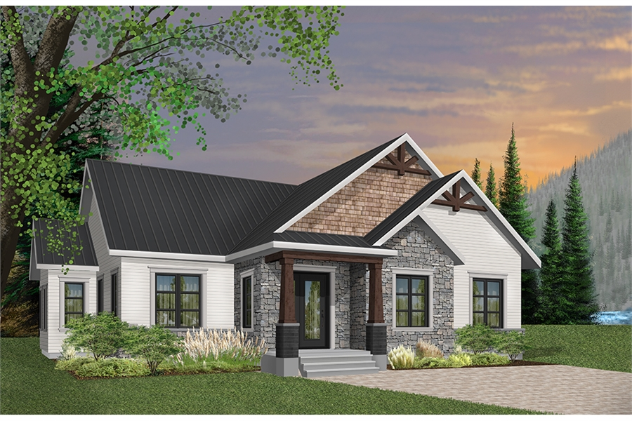 Front image of Providence 1 House Plan