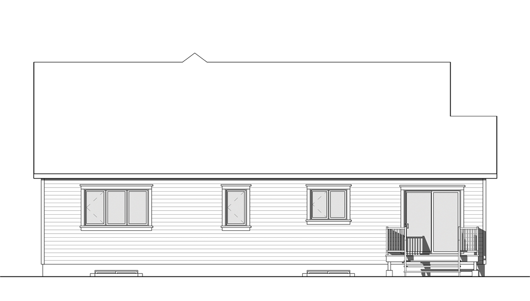 Rear Photo image of Providence 1 House Plan