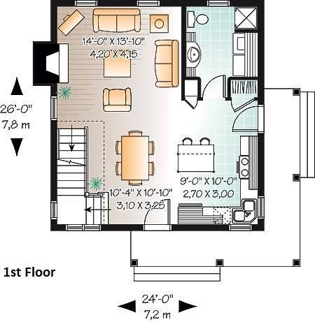 1st Floor Plan image of Lamarche House Plan