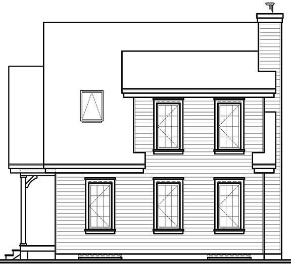 Rear view image of Lamarche House Plan