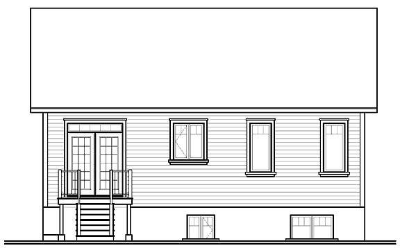 Rear Photo image of Madeira House Plan