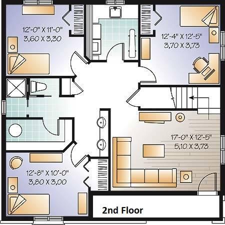 2nd Floor Plan image of Madeira House Plan