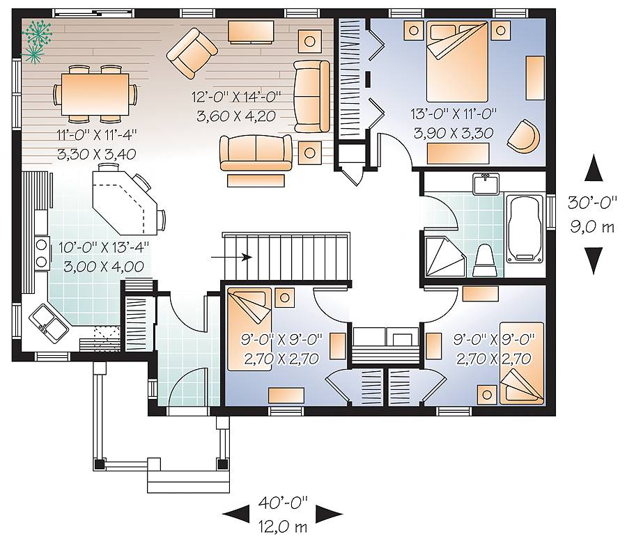 1st Floor Plan image of Erindale House Plan