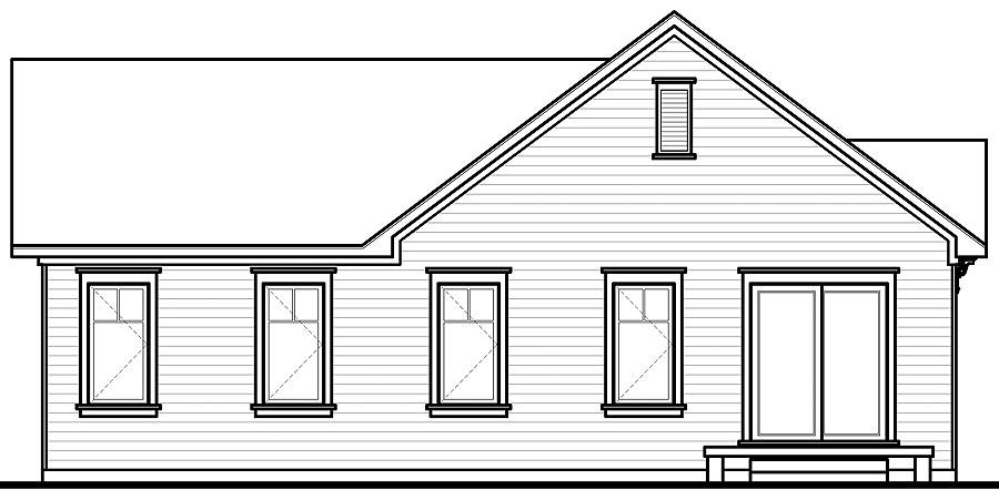 Rear view image of Erindale House Plan