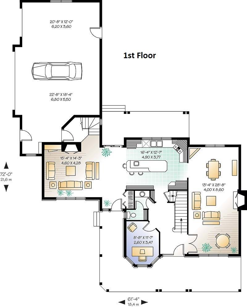 1st Floor Plan image of Pelusa House Plan