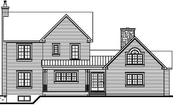 Rear Elevation image of Pelusa House Plan