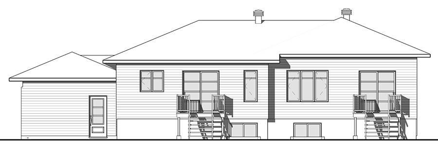 Rear view image of Paris House Plan